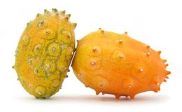 Kiwano horned melon fruit Royalty Free Stock Images