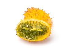 Kiwano Horned Melon. On a White Background royalty free stock photos