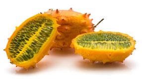 Kiwano melano isolated Royalty Free Stock Images