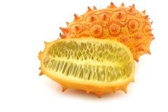Kiwano melon ((Cucumis metuliferus) Royalty Free Stock Photo