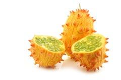 Kiwano melon ((Cucumis metuliferus) Royalty Free Stock Photos
