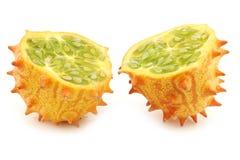 Kiwano melon ((Cucumis metuliferus) Royalty Free Stock Images