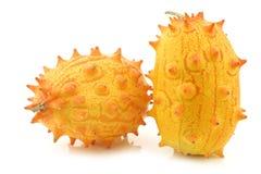 Kiwano melons ((Cucumis metuliferus) Stock Photos