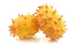 Kiwano melons ((Cucumis metuliferus) Stock Photo
