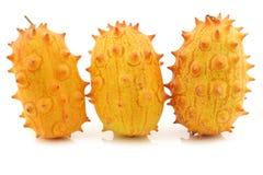 Kiwano melons ((Cucumis metuliferus) Royalty Free Stock Image