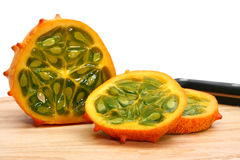 Kiwano Or African Horned Melon Royalty Free Stock Photography