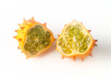 Kiwano over white background Stock Photography