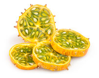 Kiwano sliced Royalty Free Stock Photos