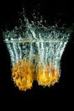 Kiwano Wasserspritzen Lizenzfreies Stockfoto