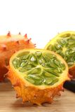 Kiwano on a wooden board Stock Photos
