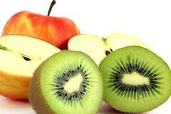 Kiwi-Äpfel Lizenzfreie Stockfotos