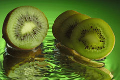 Kiwi #1. Kiwi and water with ripples Stock Images
