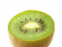 Kiwi. Fruit with macro lens. Half Stock Photography