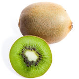 Kiwi. With half isolated on white background Royalty Free Stock Photos