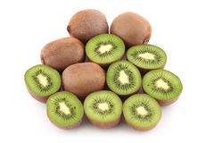 Kiwi. Fruits on white background Royalty Free Stock Image