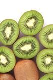Kiwi. Fruits on white background stock images