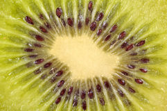 Kiwi. Very closeup shot of kiwi fruit inside Stock Photo