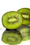 Kiwi. Fruit cut in half Stock Images