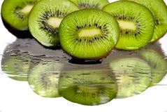 Kiwi. Fruit cut in half Royalty Free Stock Images