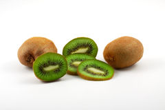 Kiwi. Bright green kiwi on a white background Stock Photo