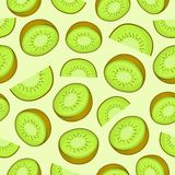 KIWI FRUIT SEAMLESS PATTERN vector illustration
