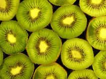 Kiwi. Fruits on black black background Stock Photography