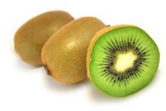 The kiwi. Some ripe kiwis is isolated on white Royalty Free Stock Photo