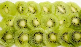 Kiwi. Slices of green and healthy kiwi fruit Stock Photo