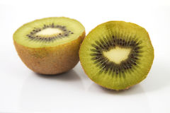 Kiwi 2. A divided kiwi with a white background Stock Photo