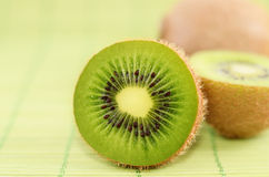 Kiwi. Fruit slice closeup shot Royalty Free Stock Images