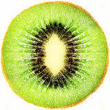 Kiwi. Fruit. Close up. Isolated over white background Royalty Free Stock Photography