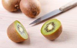 Kiwi. Fruit on cutting board Royalty Free Stock Photography
