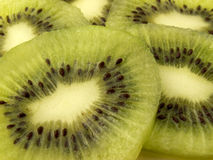 Kiwi. Macro of kiwi slices royalty free stock photography