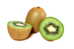 Kiwi. Three kiwies on white background Royalty Free Stock Photography