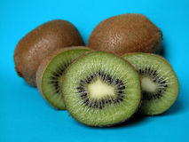 Kiwi. On blue background Royalty Free Stock Image