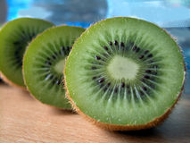 Kiwi. Three half of kiwi Royalty Free Stock Photos