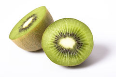 Kiwi. A detail of a kiwi fruit on white background Royalty Free Stock Photography