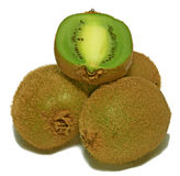 Kiwi. A few kiwi with slice on top Stock Photo