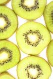 Kiwi. Slices of kiwi on a white background Royalty Free Stock Photo