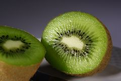 Kiwi. Cut in the foreground Stock Photos