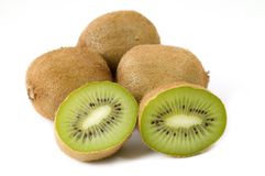 Kiwi. Isolated kiwi fruits on white background Royalty Free Stock Photography