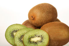 Kiwi. Fresh Kiwi in front of a white background Royalty Free Stock Photography