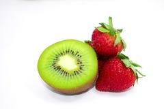 Kiwi + Aardbeien = Perfecte Combinatie Stock Foto