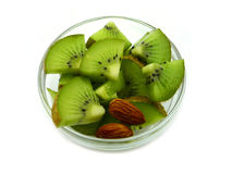 Kiwi with almond Royalty Free Stock Image