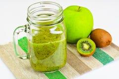Kiwi and Apple Fresh Juice Stock Images