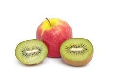 Kiwi and apple fruits Stock Photo