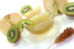 Kiwi-apple tea Stock Images