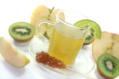 Kiwi and apple tea Royalty Free Stock Images
