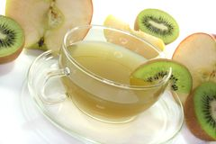 Kiwi and apple tea Stock Image