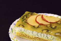 Kiwi and Apple Torte Royalty Free Stock Photos
